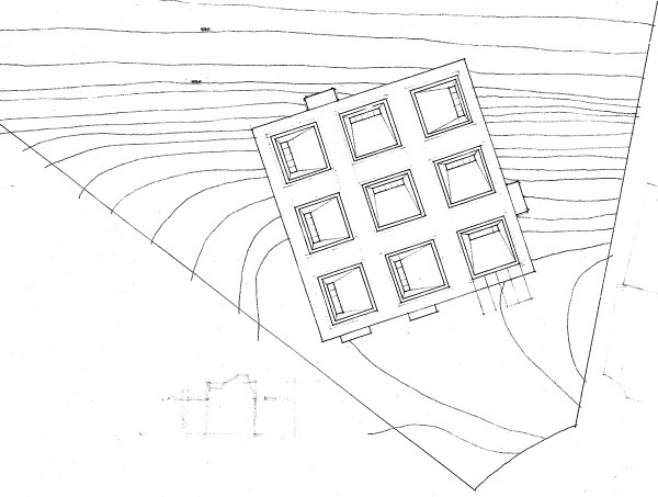 Site Plan - The Cube House by Bob Borson