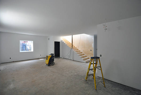 Basement looking towards stairs