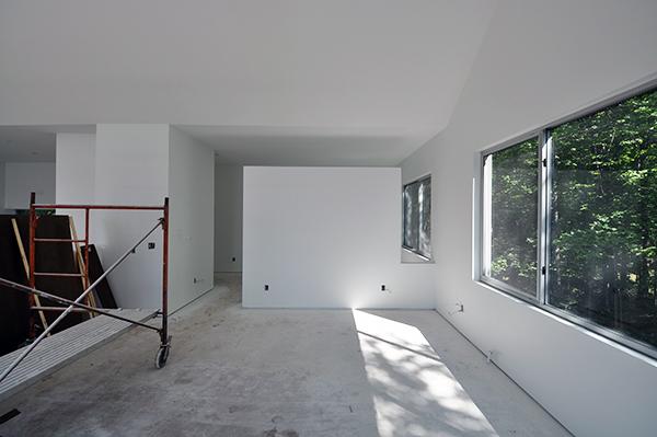 Main Living Room looking towards upper playroom