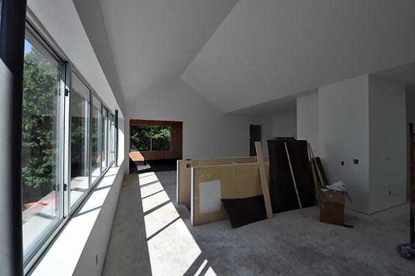 Main living room looking towards upper porch