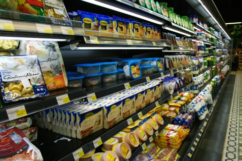Cold cuts, Dairy and chilled section at Spinneys, Qatar