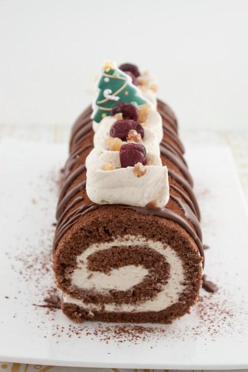 chocolate chestnut bûche I
