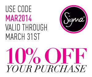 Sigma March Coupon 10% OFF