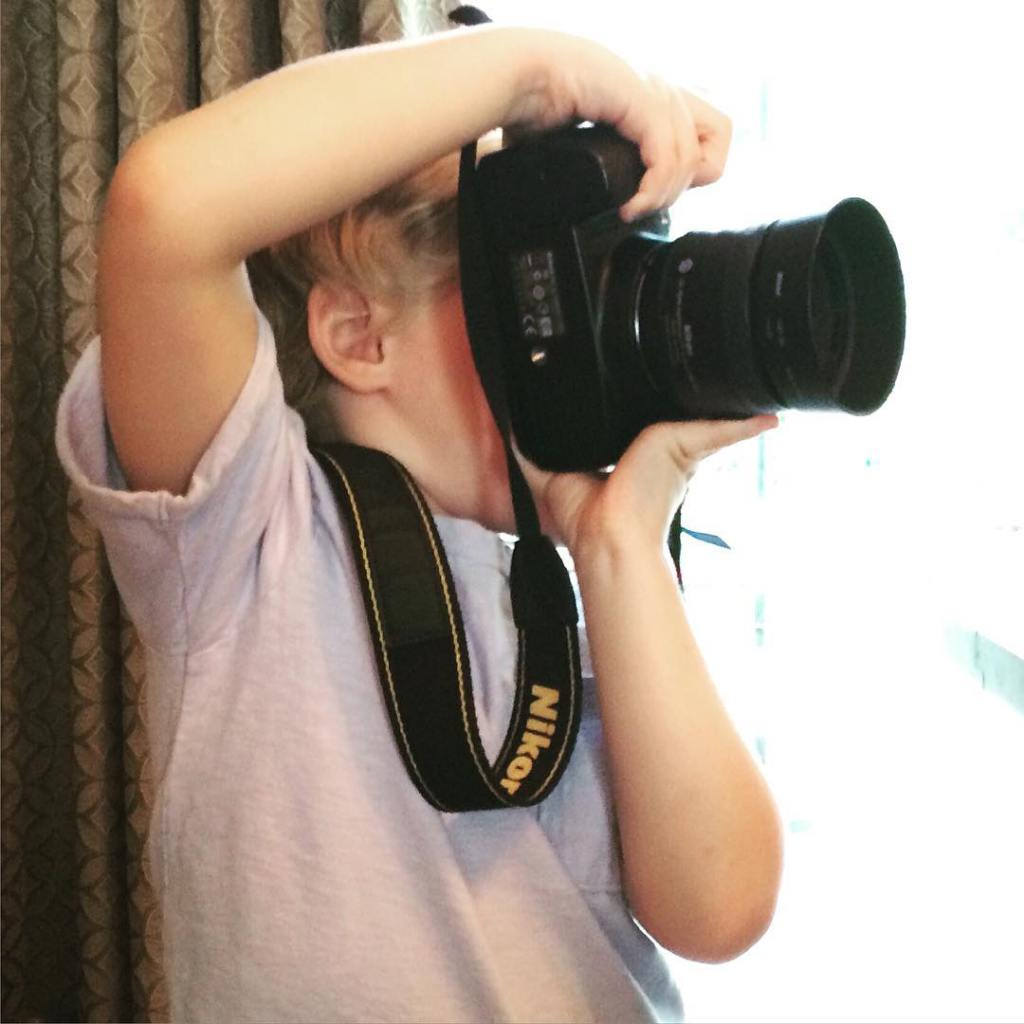 My little photographer in the making