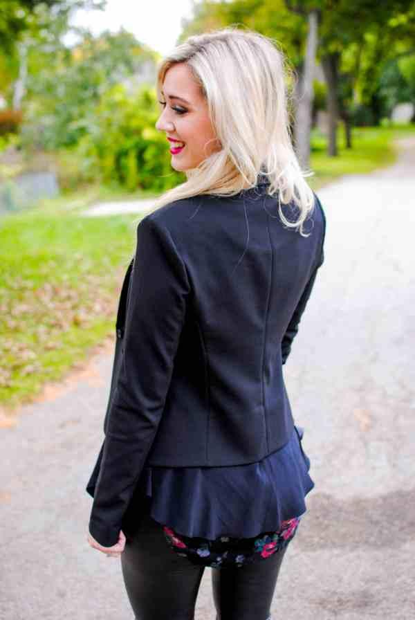black leather pants, Elizabeth and James 'Glenn' Scarf Inlay Jacket