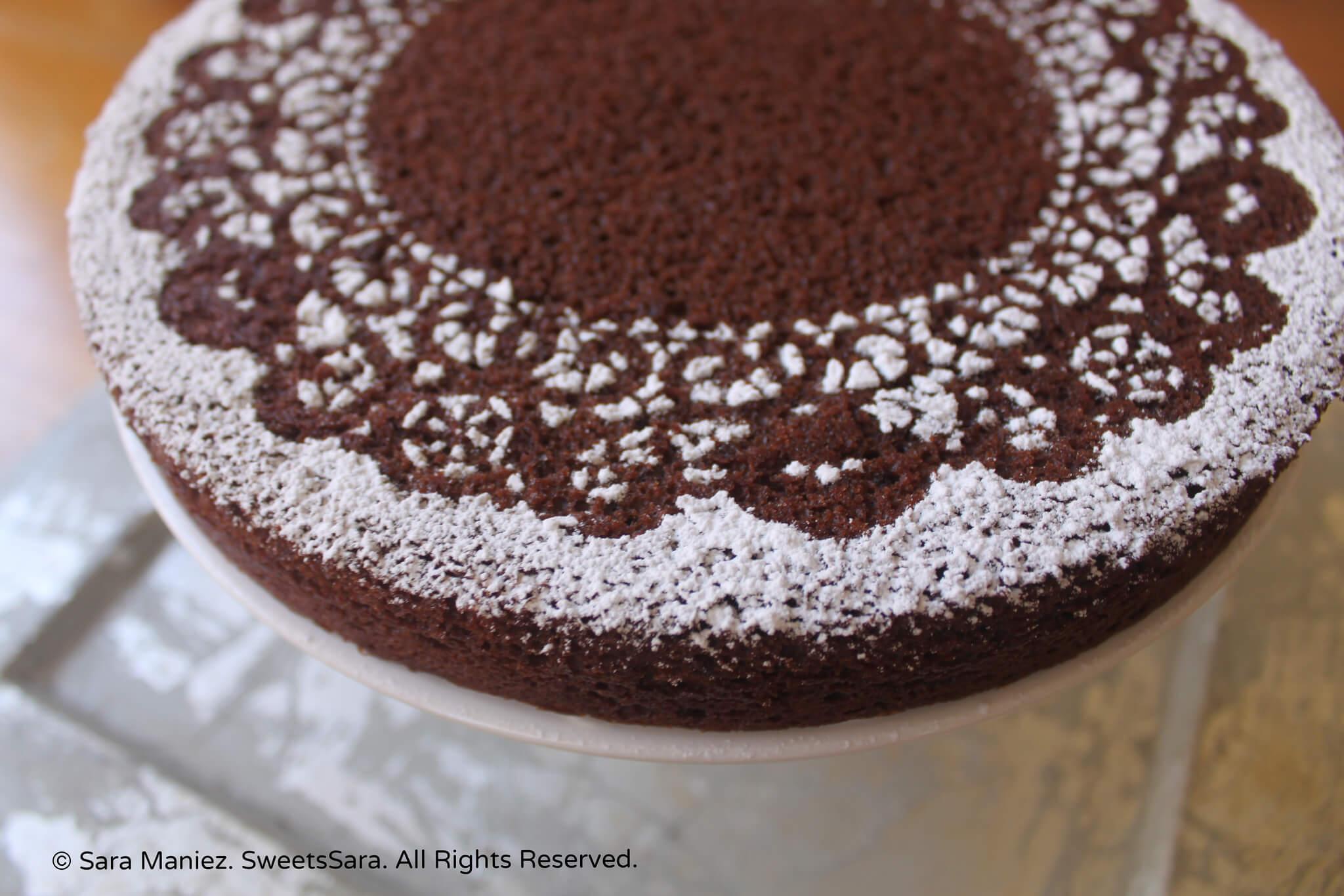 ... sugar tops this subtly orange-almond flavored chocolate cake