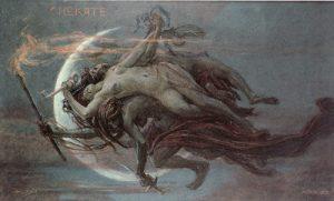 Maximilián Pirner, Hecate, 1901. Pastel, paper, 55 x 89 cm. GHMP Prague. Source: In Morbid Colours.