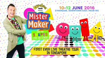 Mister Maker and The Shapes LIVE On Stage 1st Time in SINGAPORE!