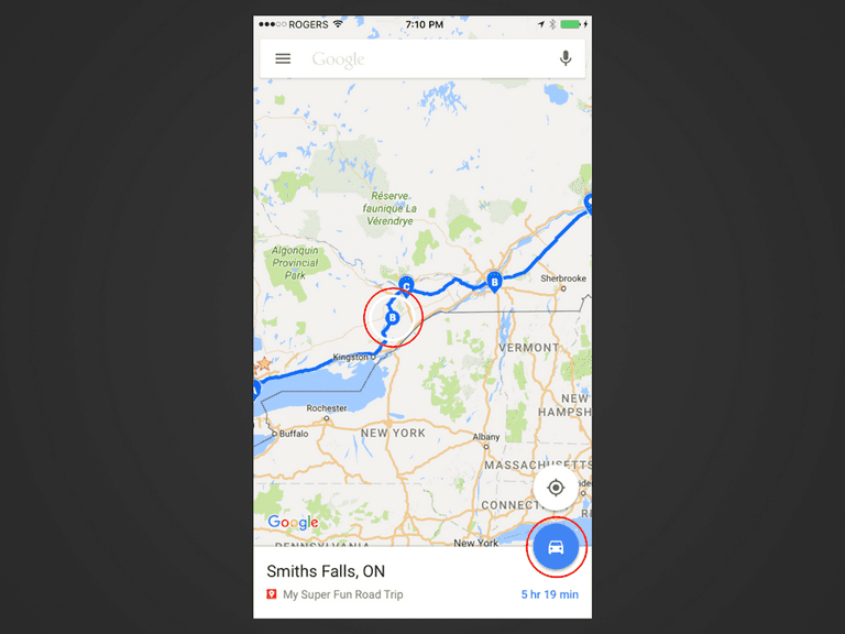 Send a Custom Route on Google Maps to Your Phone Google Maps App