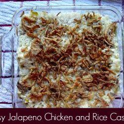 Cheesy Jalapeno Chicken and Rice Casserole