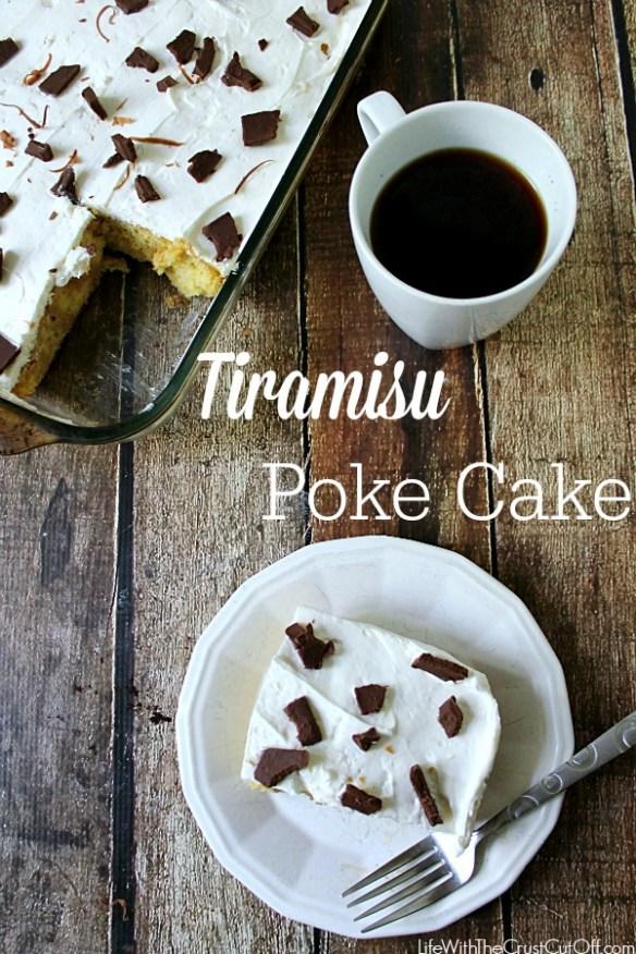 Tiramisu Poke Cake from Life with the Crust Cut Off