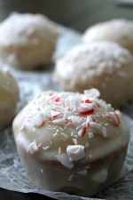 Glazed Peppermint Bark Tea Cakes