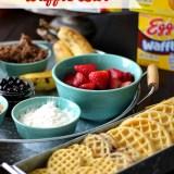Lazy Sunday Waffle Bar #EggoWaffleBar #CollectiveBias