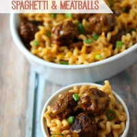 Enchilada Spaghetti and Meatballs