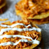 Honey Chipotle Chicken Tostadas