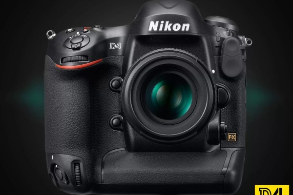 Nikon D4 Front View with 50mm f/1.4 lens