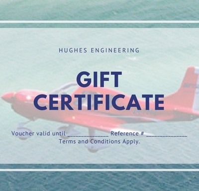 Gift Certificate Hughes Engineering