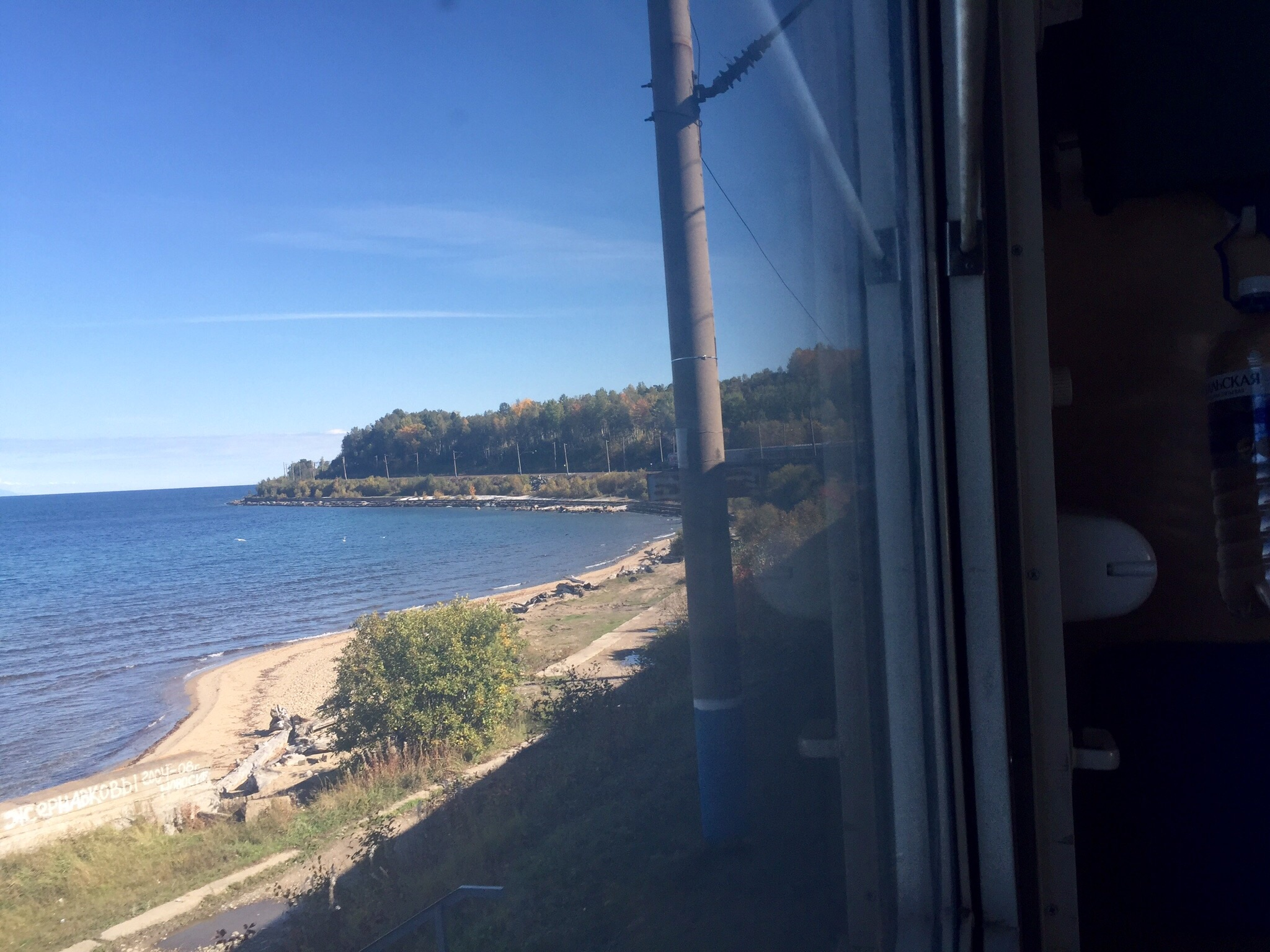 This was the one time when we went around a bend and I looked at the right moment to see the back of the train from our compartment.