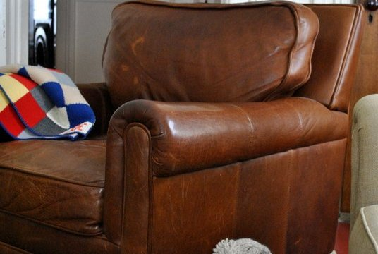 Sagging leather chair cushion fix!