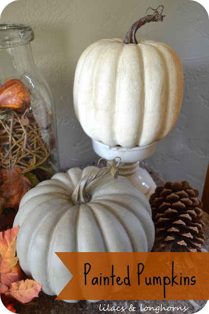Painting Pumpkins with Chalk Paint