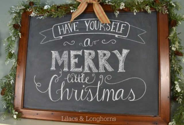 merry little christmas chalkboard