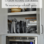 Installing dividers and stackable shelves helps you maximize space and organization in the kitchen.