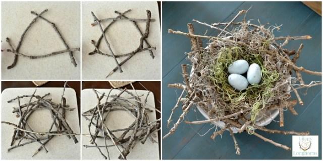 make a twiggy bird's nest