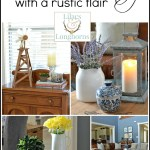 summer decorating with a rustic flair