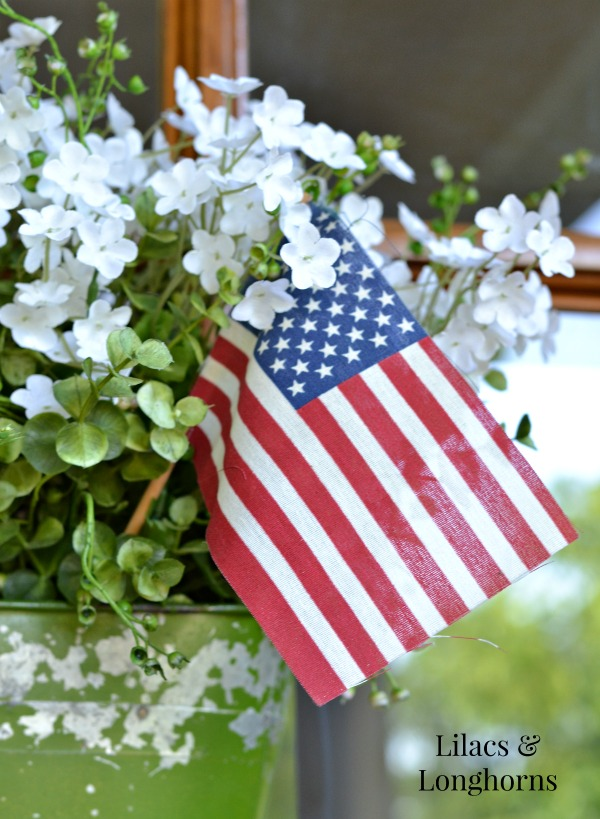 U.S. flag in floral display
