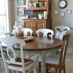 farmhouse table with gray painted legs