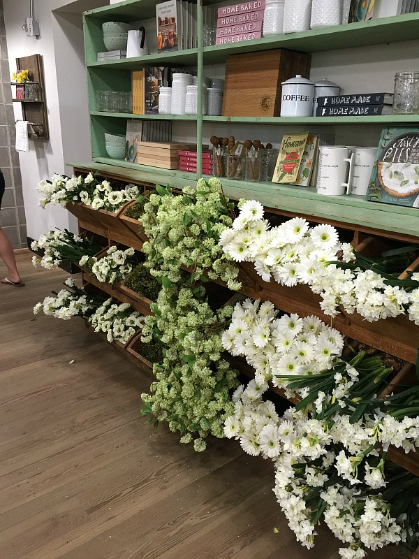 flowers inside Magnolia Market Waco TX