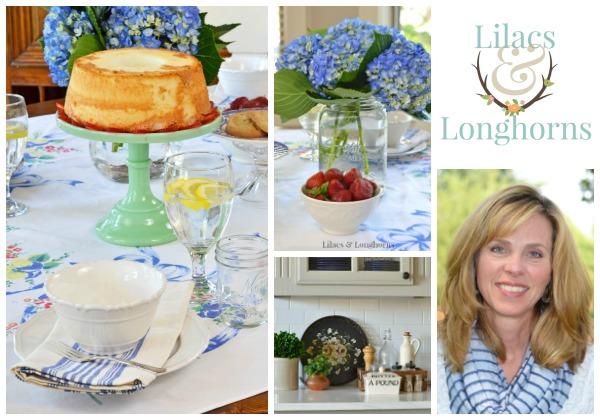 Lilacs and Longhorns blog tablescape