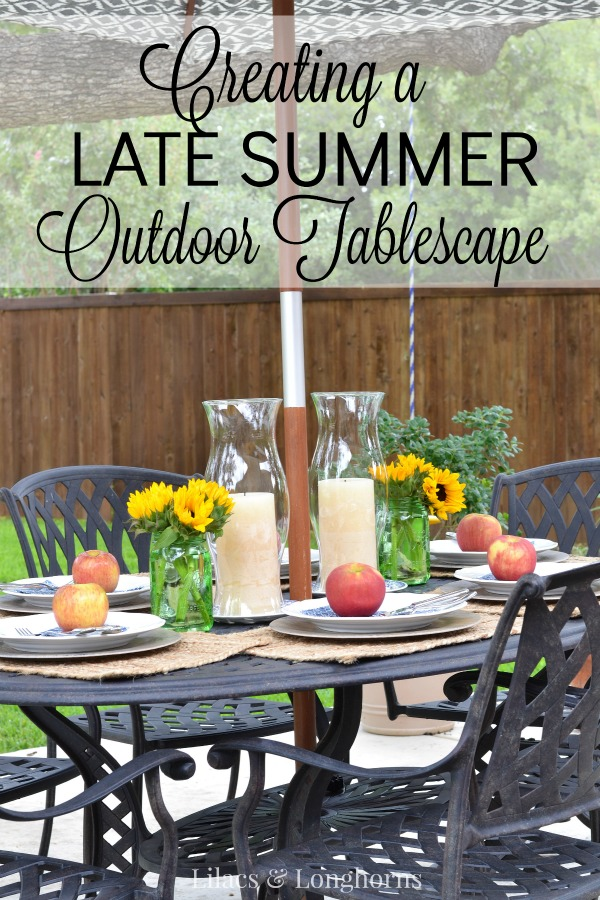 creating a late summer tablescape