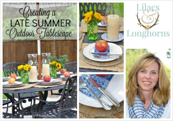Lilacs and Longhorns_summer tablescape
