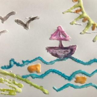 Salt Paintings for Kids