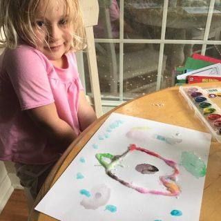 Salt Paintings with Emma