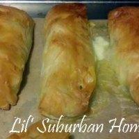 Chicken, Asparagus & Tarragon Phyllo Roll Ups
