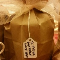 Brown Paper Packages Tied Up with Tulle & Twine