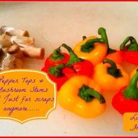 Mushroom Stems & Pepper Tops
