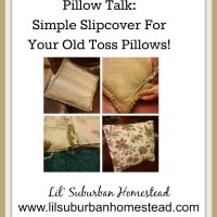 DIY: Don't Toss Those Toss Pillows! Simple Easy Slipcovers