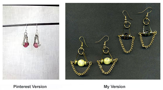 Earrings made with spacer bars