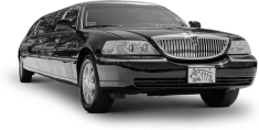 Black Stretch Wedding Limo image