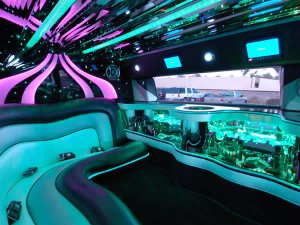 Interior 20 passenger hummer stretched Limousines in CT photo