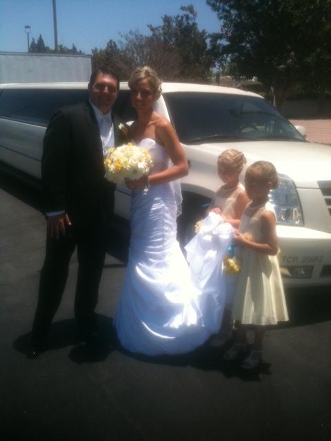 Orange County Wedding Limousine Service in Garden Grove to Yorba Linda Country Club