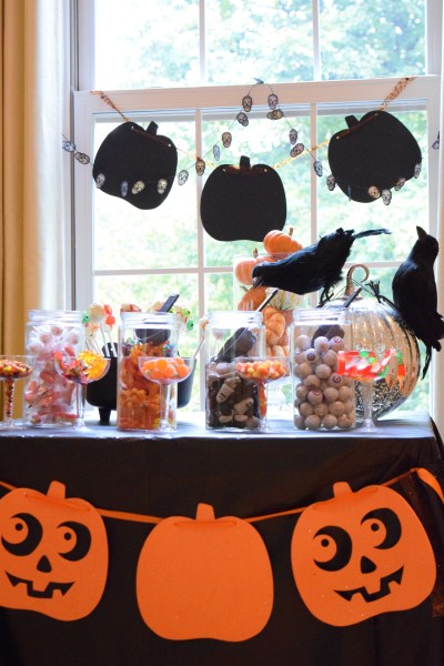 Halloween Candy Station, Ghost Stories and A Pumpkin Trebuchet Party!