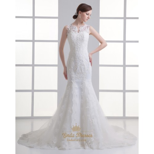 Medium Crop Of Illusion Wedding Dresses