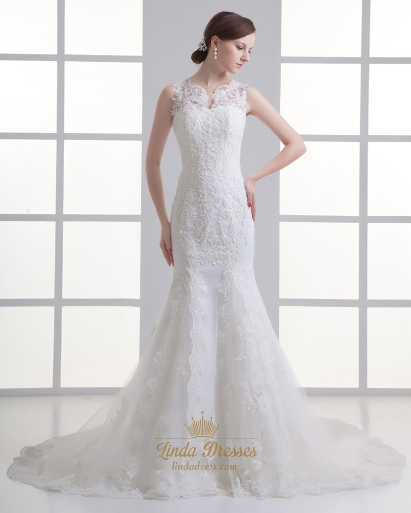 Large Of Illusion Wedding Dresses