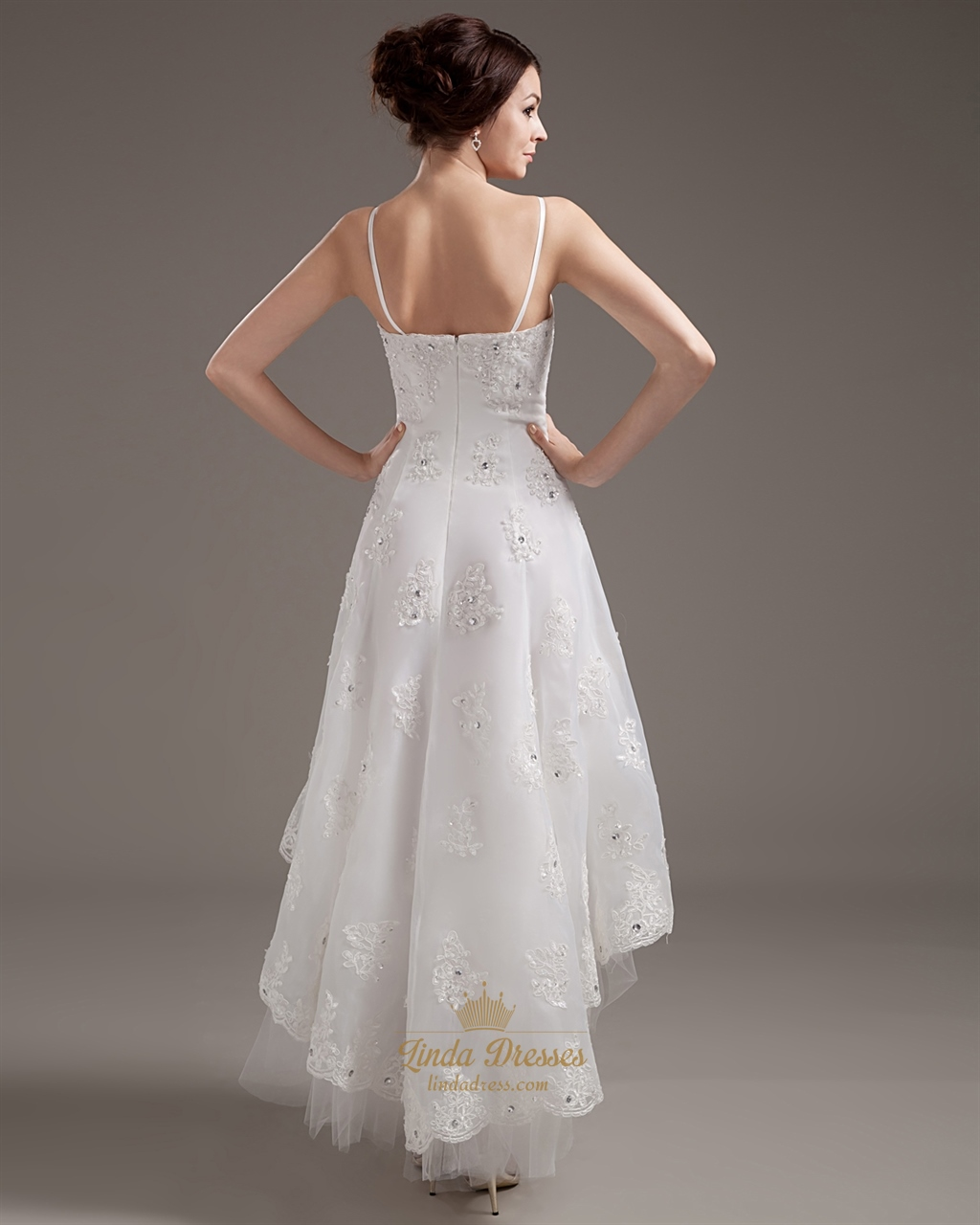 your guide to buying a beach wedding dress high low wedding dress Taffeta Beach Wedding Dress