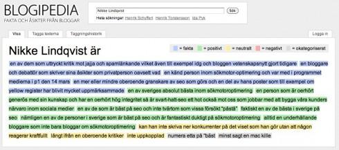 Fakta och asikter om Nikke Lindqvist Blogipedia.com