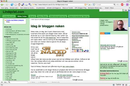 Nikke Index med CSS-formatering